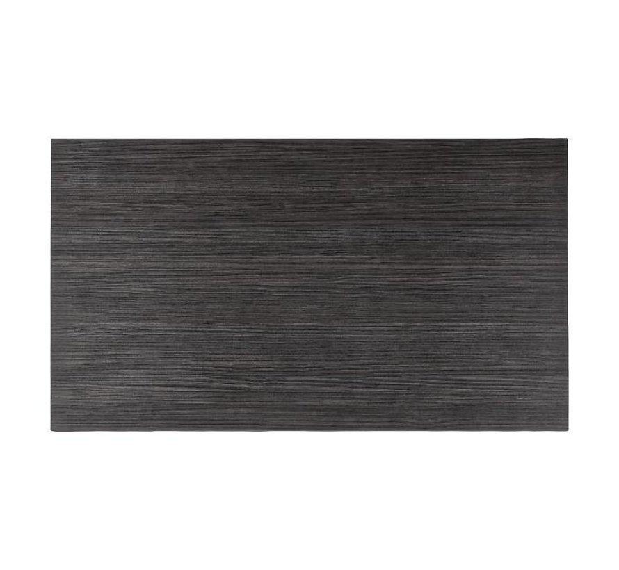 Blad Melamine 120 cm x 70 cm, haci'nda zwart, 1 stuk