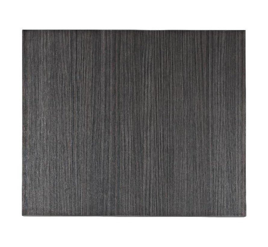 Blad Melamine 60 cm x 70 cm, haci'nda zwart, 1 stuk