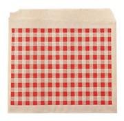 Overige merken Take Dis Snackzak Döner, Beierse ruit rood-eco bruin, 15 cm, 5 kilogram