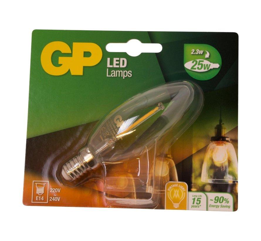 Gp LED-lamp Filament Kaars 2-25W E14, 1 stuk