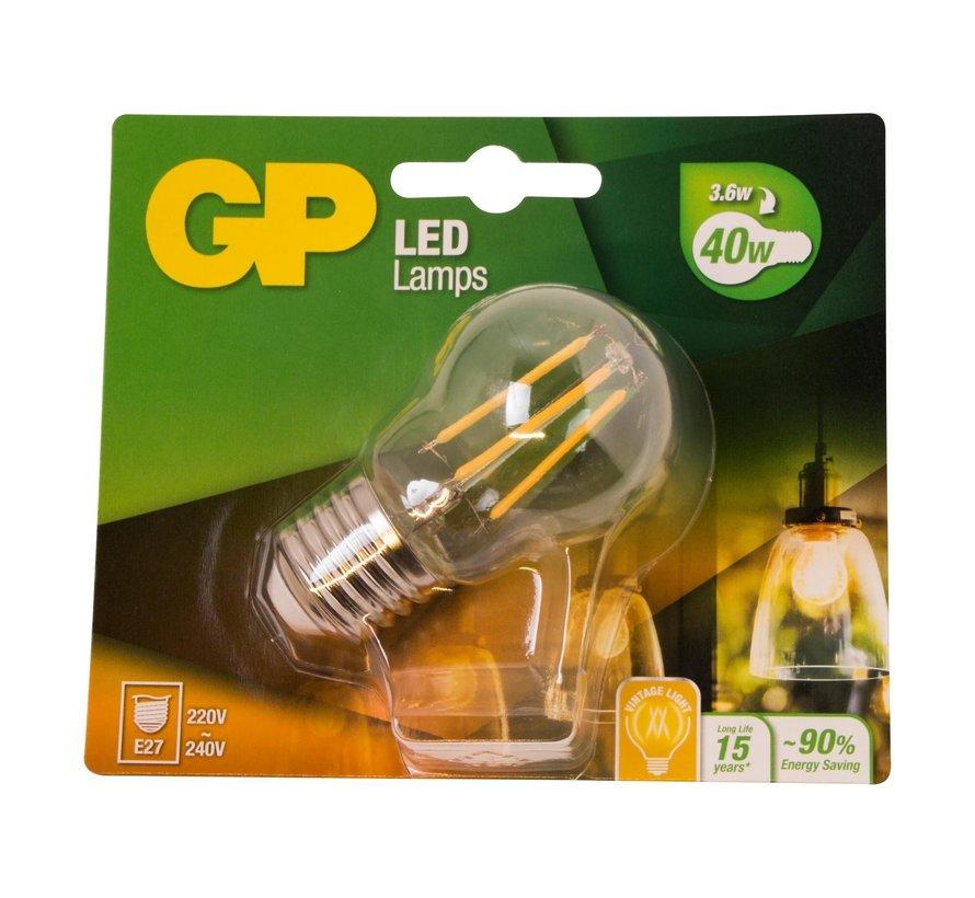 Gp LED-lamp Filament Mini Globe 4-40W E27, 1 stuk