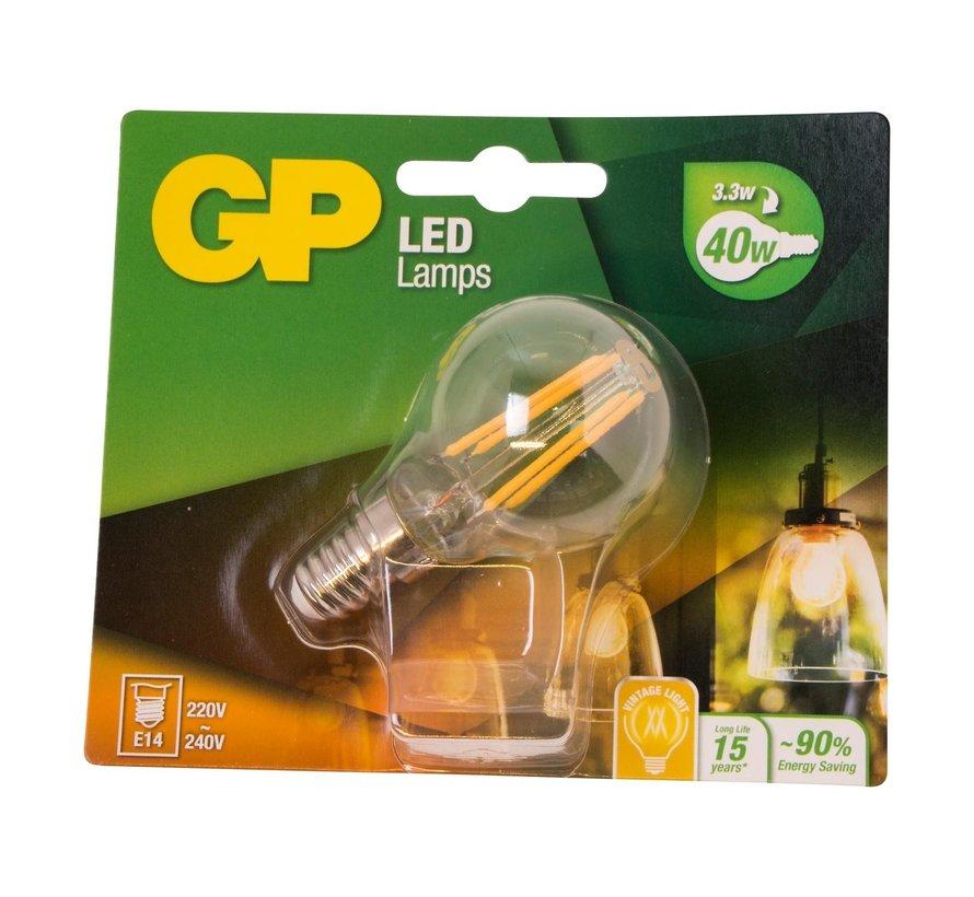 Gp LED-lamp Filament Mini Globe 4-40W E14, 1 stuk