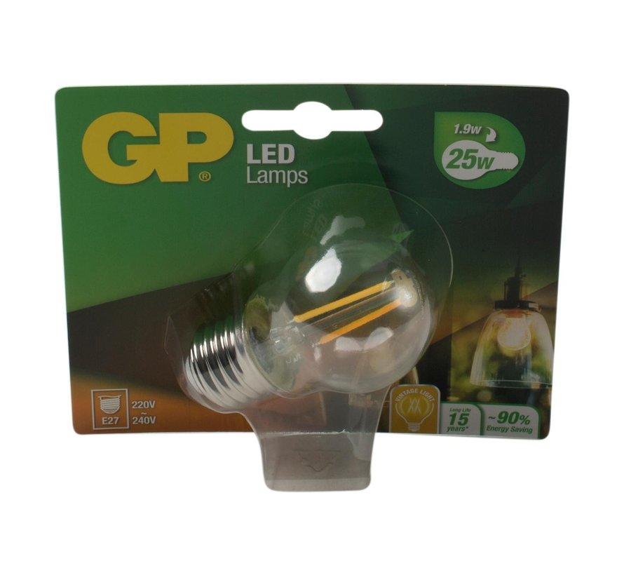 Gp LED-lamp Filament Mini Globe 2-25W E27, 1 stuk