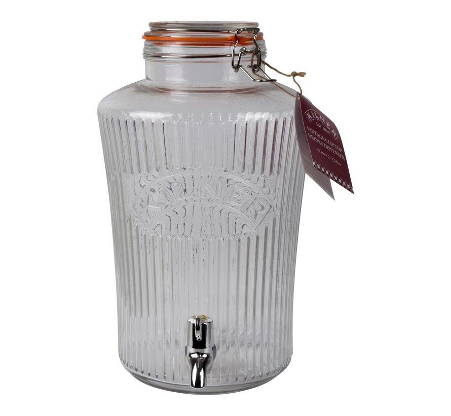 Kilner Drankdispenser 8 liter, 1 stuk