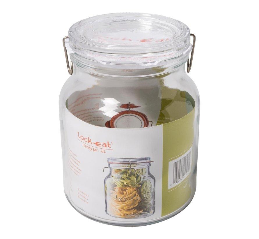 Luigi Borm Voorraadpot Lock-Eat Handy Jar 2 liter, 1 stuk