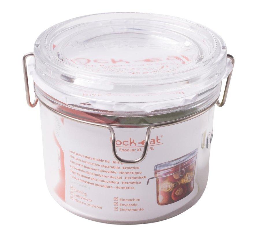 Luigi Borm Voorraadpot Lock-Eat Food Jar XL 0,5 liter, 1 stuk
