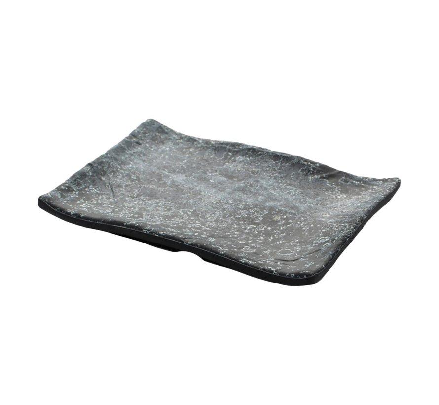Cheforward Schaal rechthoekig marmer zwart 21 x 14 cm, 1 stuk