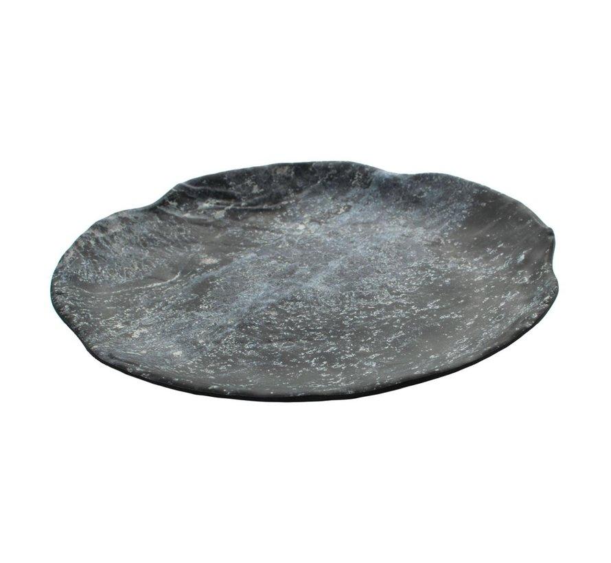 Cheforward Bord marmer zwart 25,5 cm, 1 stuk