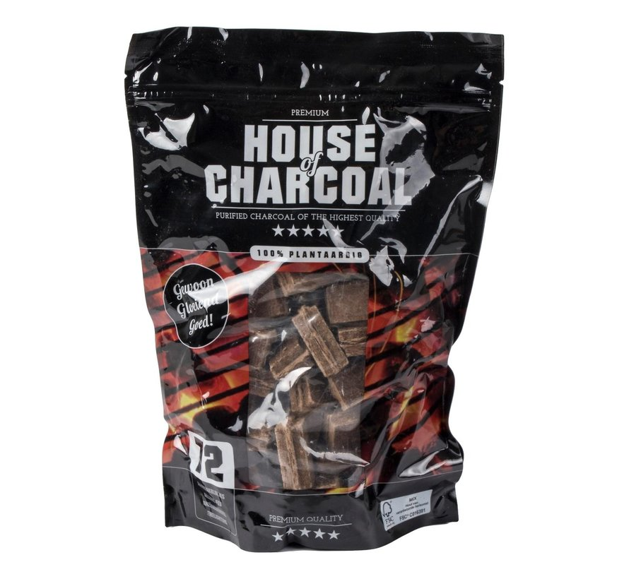 Charcoal Aanmaakblokjes bruin fsc, 72 stuks