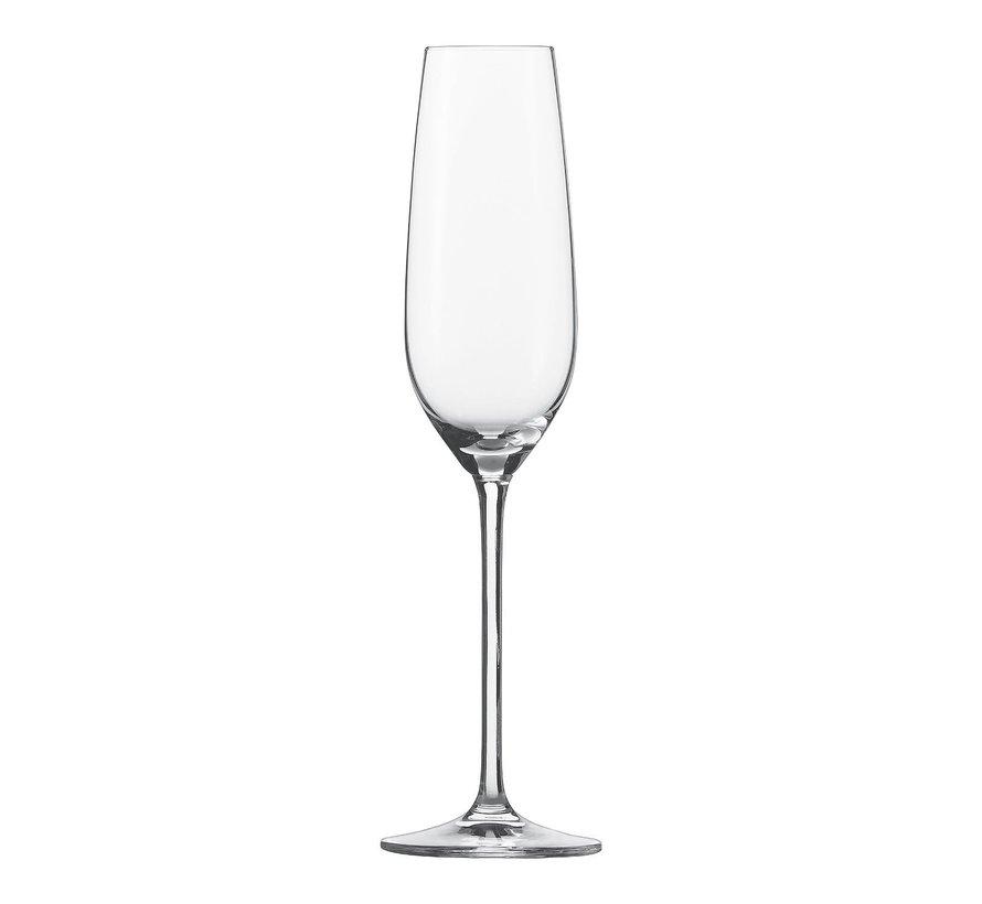 Schott Zwi Champagneglas met mousseerpunt 24 cl, 6 stuks