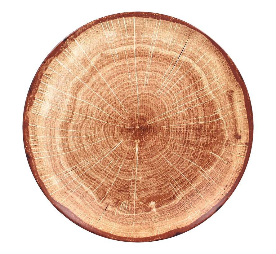 Rak Woodart bord 29 cm timber brown, 1 stuk