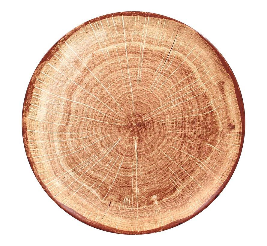 Rak Woodart bord 27 cm timber brown, 1 stuk