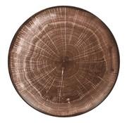 Rak Rak Woodart bord coupe 24 cm, oak brown, 1 stuk