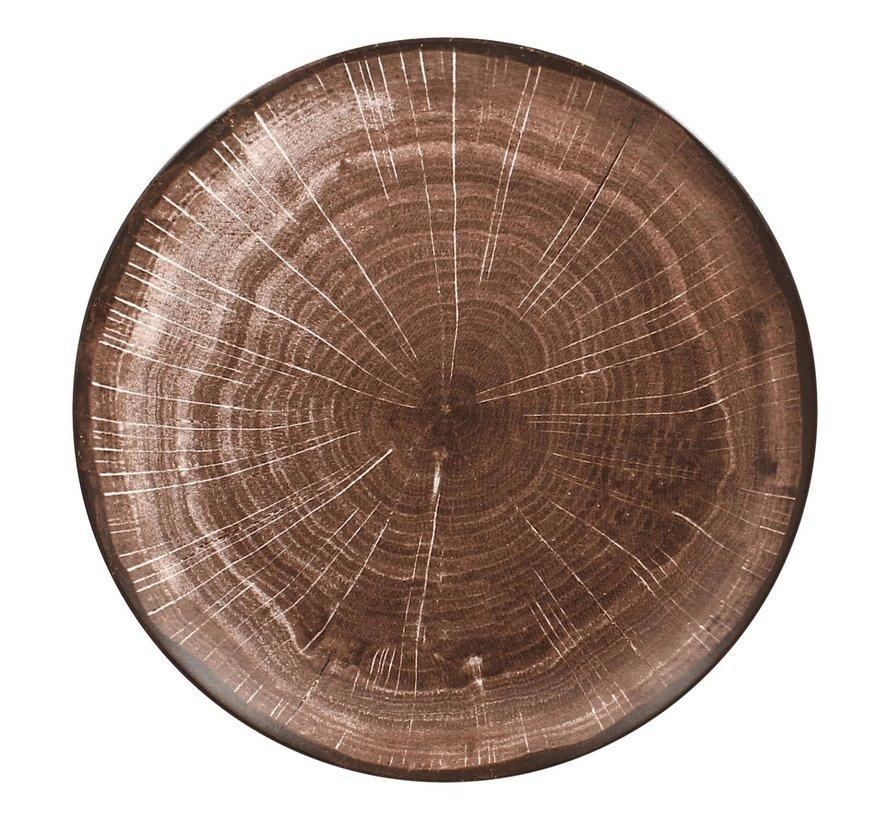 Rak Woodart bord coupe 24 cm, oak brown, 1 stuk