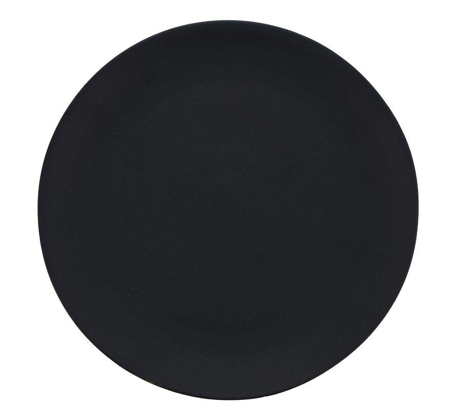 Gastro Bord zwart rond model, 20 cm, 1 stuk
