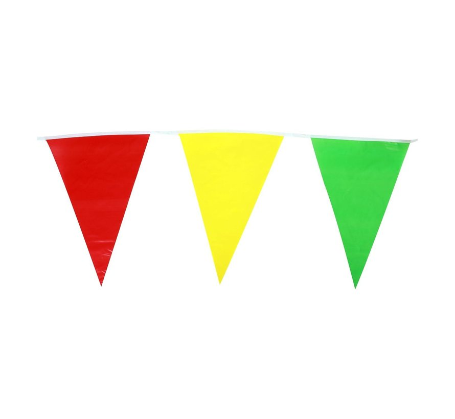 Vlaglijn rood-geel-groen, 10 meter