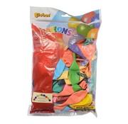 Overige merken Globos Doorknoopballonnen assorti, onbedrukt 25 cm, 100 stuks