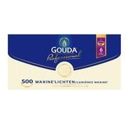 Overige merken Gouda Theelichten, 6 branduren, wit, 500 stuks