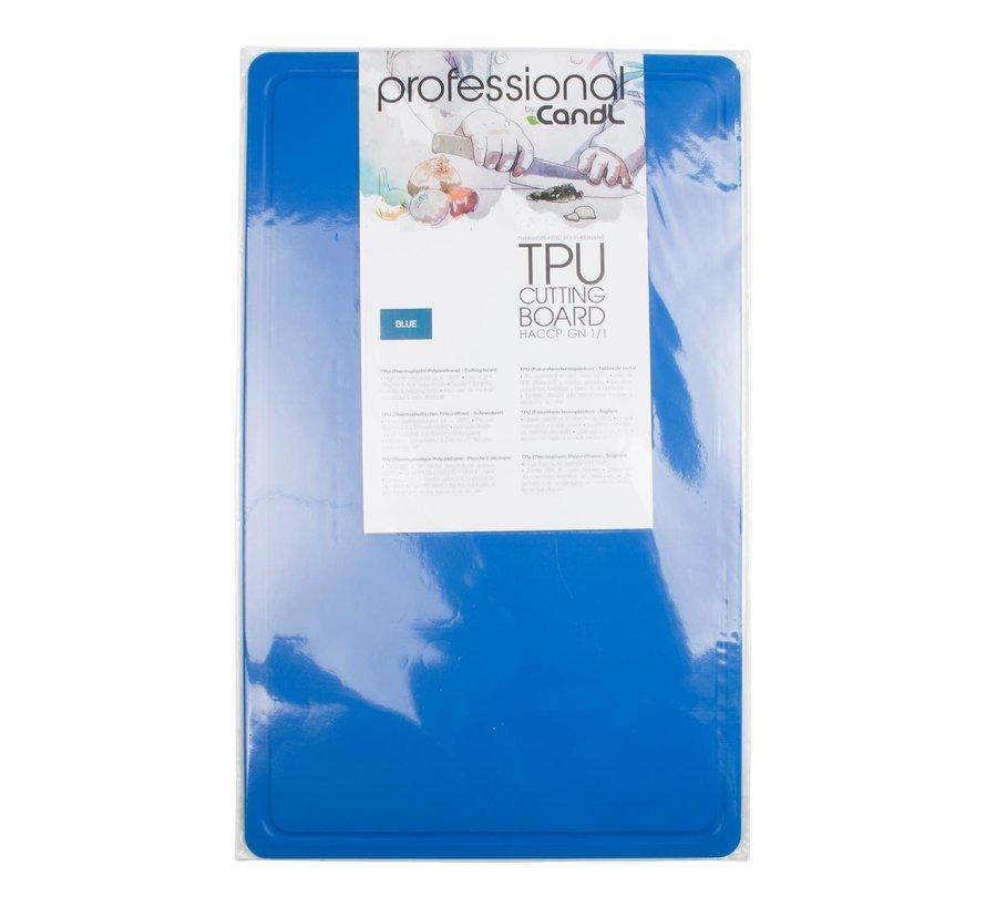 Candl Snijplank TPU GN1 flexibel blauw, 1 stuk