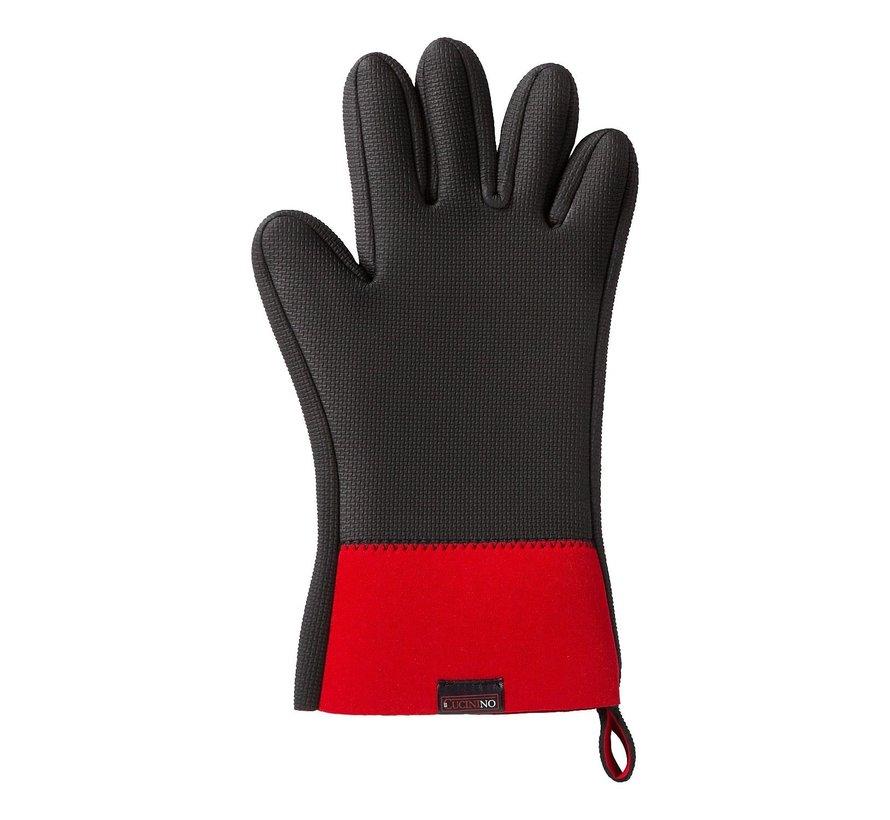 Il Cucinin Ovenwant met vingers, rood-zwart, 1 stuk