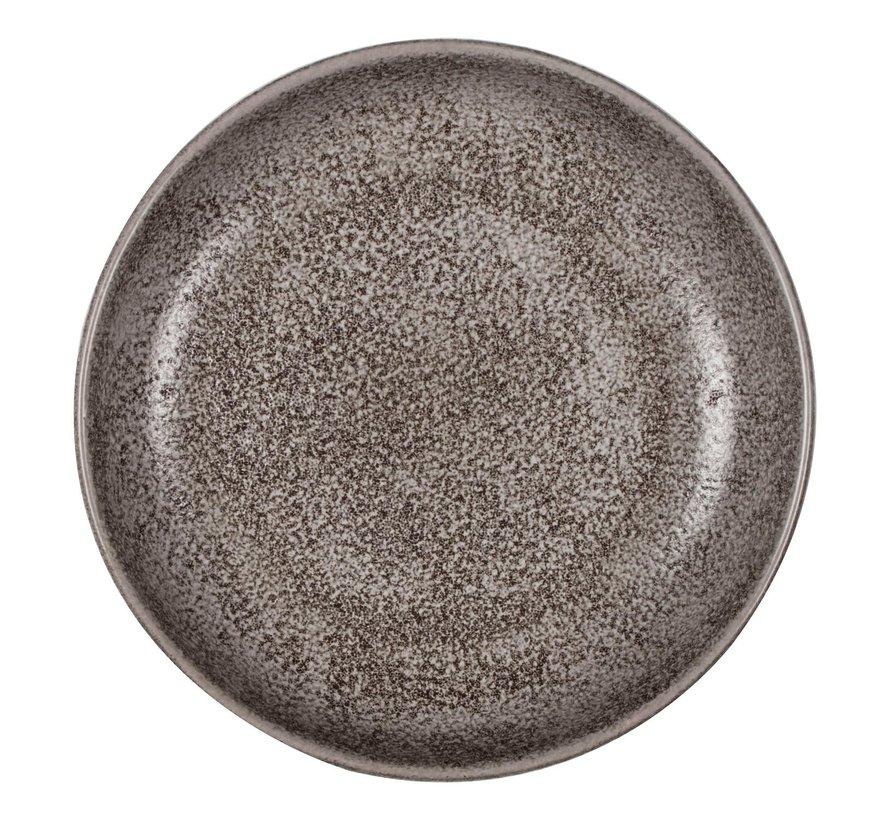 Qraw Rock bord diep 20,5 cm, 1 stuk