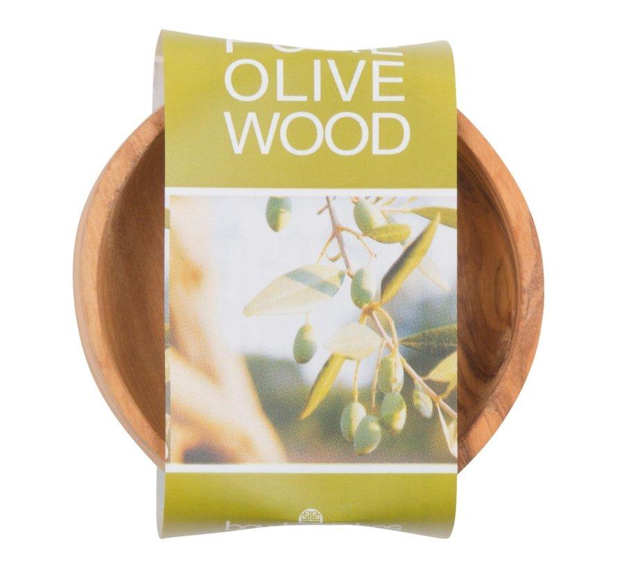 Bowl&Dishe Schaal van olijfhout, laag 8 cm, 1 stuk