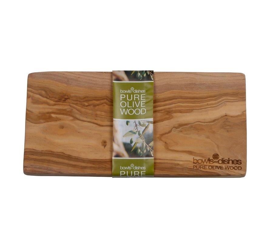 Bowl&Dishe Plank van olijfhout 25 x 1,5 cm, 1 stuk