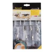 Overige merken Securit Schrijfborden houder van acryl, 6 stuks