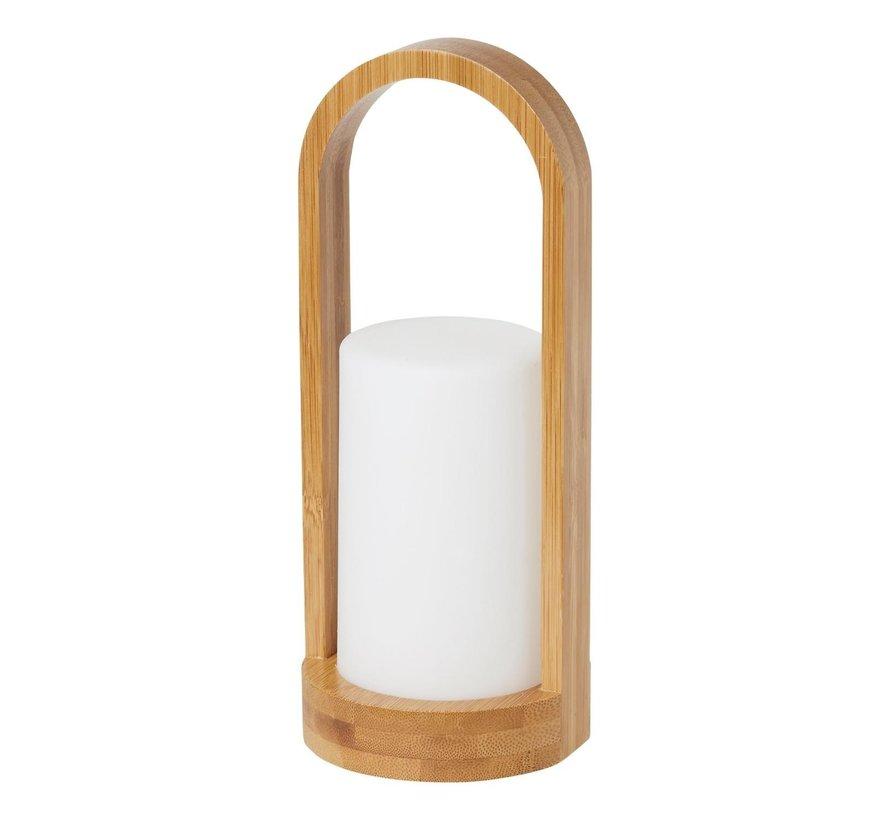 Duni LED kaarshouder easy 240 x 100 mm bamboo, 1 stuk