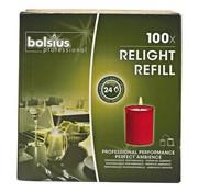 Bolsius Bolsius Cube light rood, 100 stuks