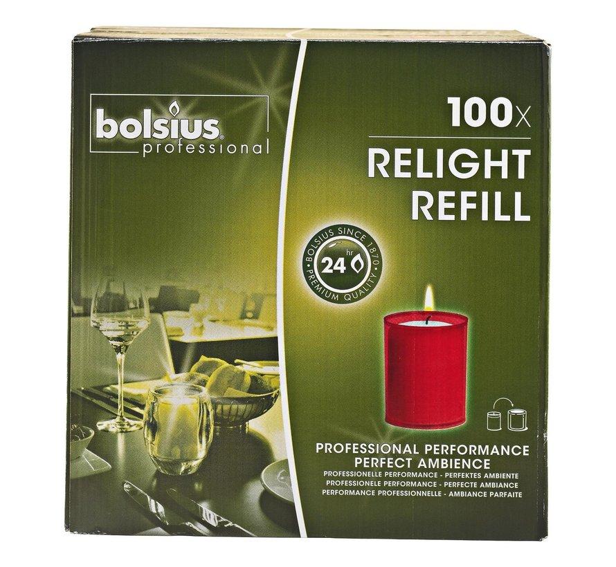 Bolsius Cube light rood, 100 stuks