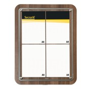 Overige merken Securit Display glass star walnoot, 4 x A4, 1 stuk