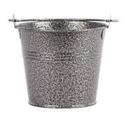 Overige merken Servtrends Gegalvaniseerde stalen serveeremmer gehamerd 10 cm, zilver, 1 stuk