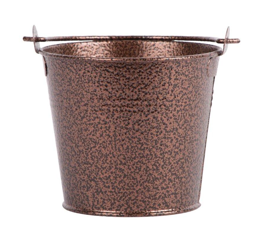 Servtrends Gegalvaniseerde stalen serveeremmer gehamerd 10 cm, koper, 1 stuk