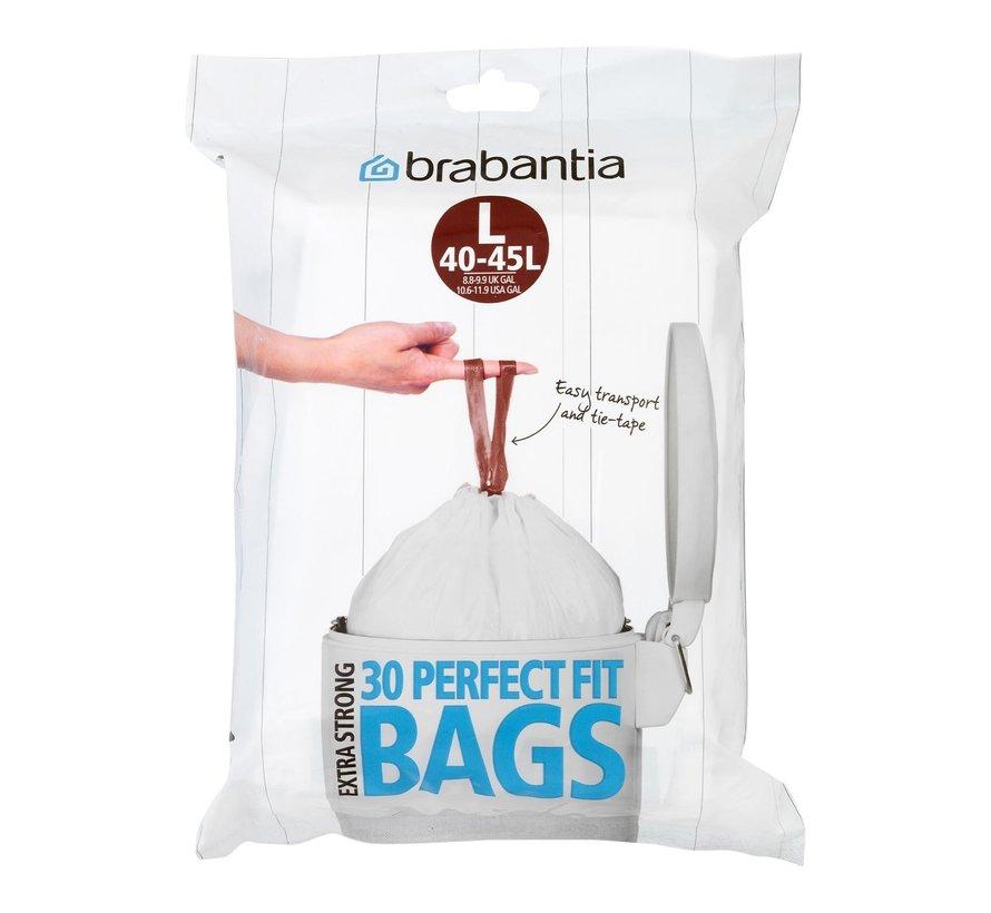 Brabantia Afvalzakken trekbandsluiting 40-45 liter, 30 stuks