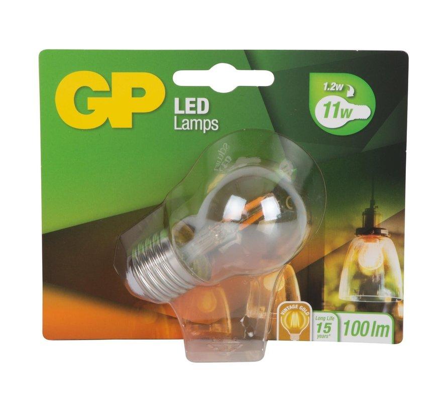Gp LED lamp mini globe 1,2-11 watt E27 gold, 1 stuk