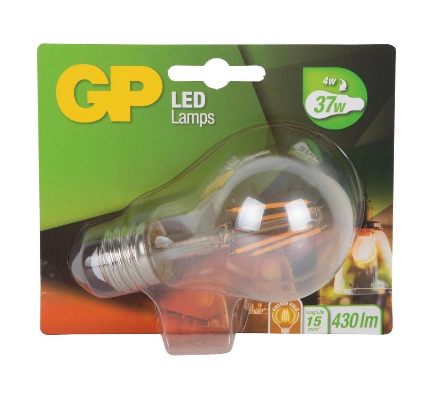 Gp LED lamp classic 4-37 watt E27 gold, 1 stuk