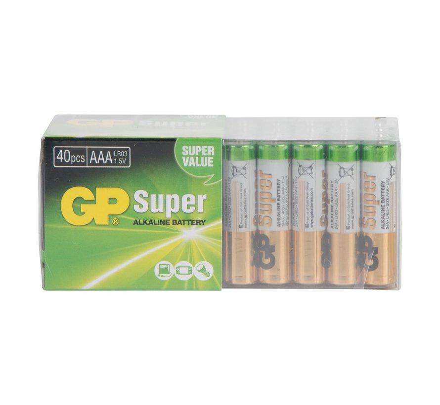 Gp Super Alkaline AAA batterij, 40 stuks