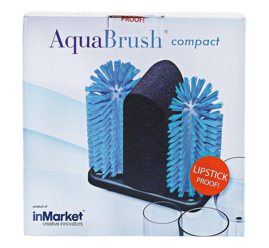 Aquafox Aquabrush Glazenspoelborstel compact, 1 stuk