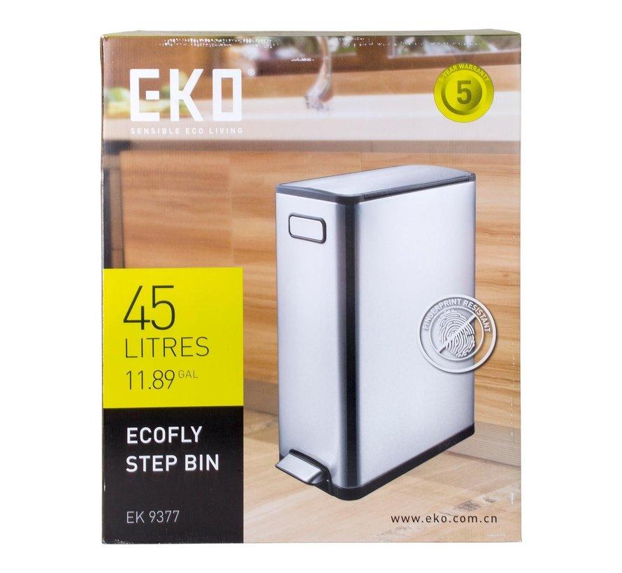 Eko Pedaalemmer ecofly 45 liter mat RVS, 1 stuk