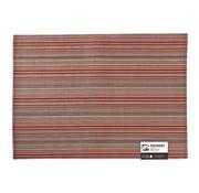 Overige merken Aps Placemat lines 45 x 33 cm, rood-oranje, 1 stuk