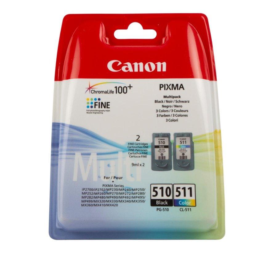 Canon Inktpatronen multipack PG-510 CL-511, zwart en kleur, 1 stuk