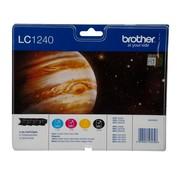 Overige merken Brother Inktpatronen multipack LC-1240, zwart en 3 kleuren, 1 stuk