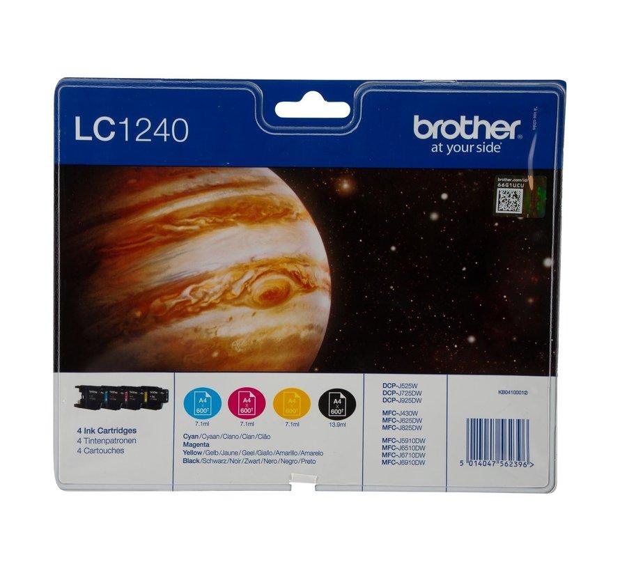 Brother Inktpatronen multipack LC-1240, zwart en 3 kleuren, 1 stuk