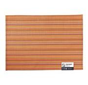 Overige merken Aps Placemat 45 x 33 cm, oranje-geel lines, 1 stuk