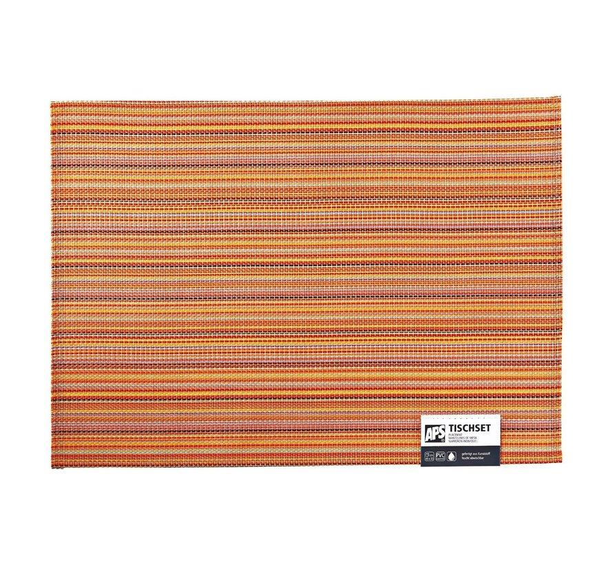 Aps Placemat 45 x 33 cm, oranje-geel lines, 1 stuk