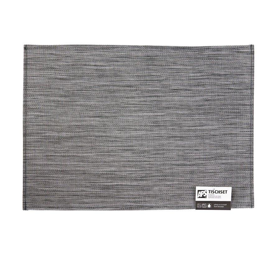 Aps Placemat 45 x 33 cm, grijs-zwart, 1 stuk