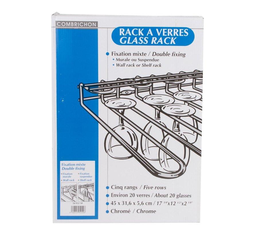 Tellier Glazenrek voor wand- en plafondmontage, 1 stuk