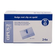 Overige merken Badge met clip en speld 65 x 95 mm, 24 stuks