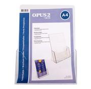 Overige merken Opus2 Folderhouder A4 acryl, 1 stuk